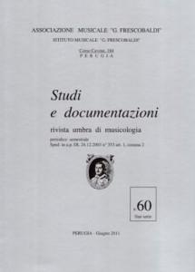 """La rivista """"STUDI  E DOCUMENTAZIONI"""" N. 60  - COPERTINA"""